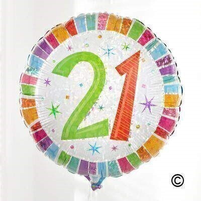 21st Birthday Balloon: Booker Flowers and Gifts