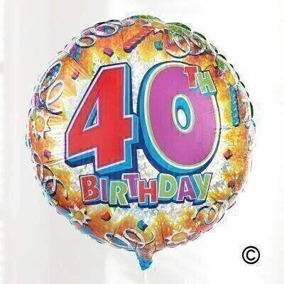 40th Birthday Balloon: Booker Flowers and Gifts