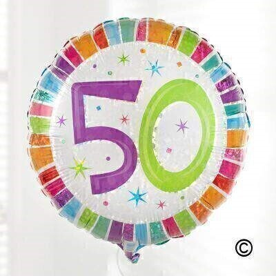 50th Birthday Balloon: Booker Flowers and Gifts