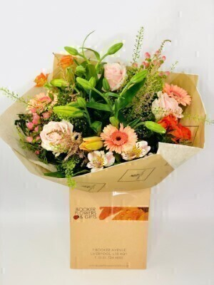 Apricot Ardour Luxury Hand Tied: Booker Flowers and Gifts
