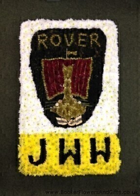 Car Badge With Initials Funeral Flowers: Booker Flowers and Gifts