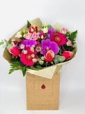 Cerise Crush Luxury Handtied: Booker Flowers and Gifts