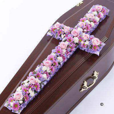Classic Cross - Pink and Lilac Large: Booker Flowers and Gifts