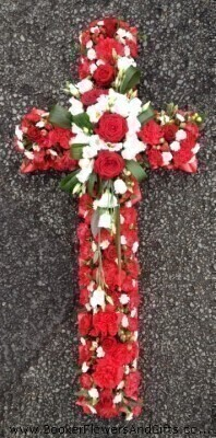 Classic Cross - Red and White: Booker Flowers and Gifts