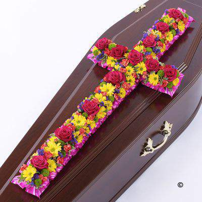 Classic Cross - Vibrant Large: Booker Flowers and Gifts