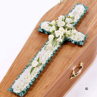 Classic Cross - White: Booker Flowers and Gifts