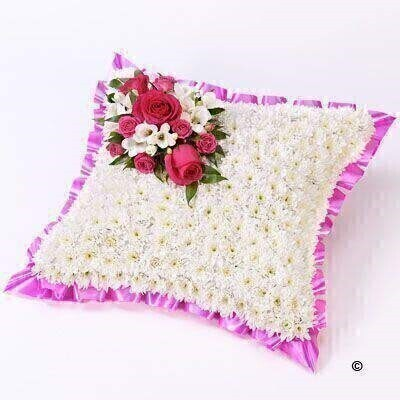 Classic White Cushion: Booker Flowers and Gifts