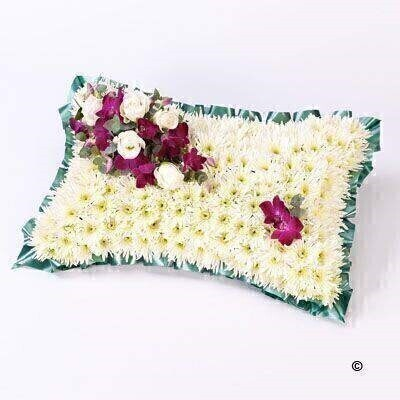 Classic White Pillow: Booker Flowers and Gifts