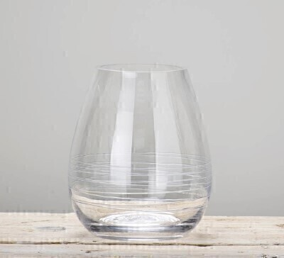 Clear Teardrop Vase: Booker Flowers and Gifts