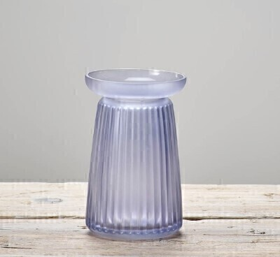 Corrugated Lilac Vase: Booker Flowers and Gifts