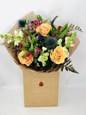 Warm Winter Flowers In Water