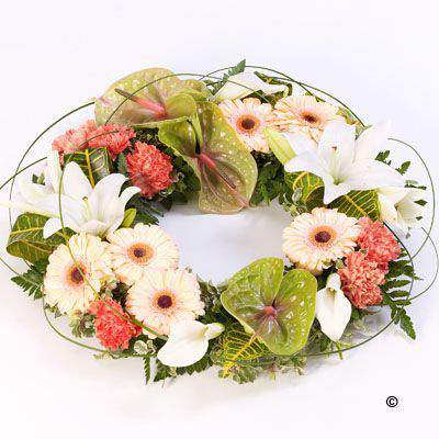 Exotic Wreath Large: Booker Flowers and Gifts