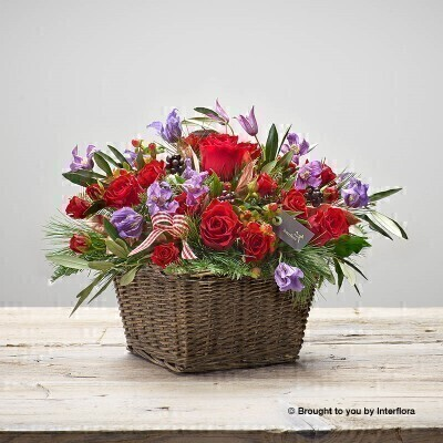 Festive Fun Large Basket of Flowers: Booker Flowers and Gifts