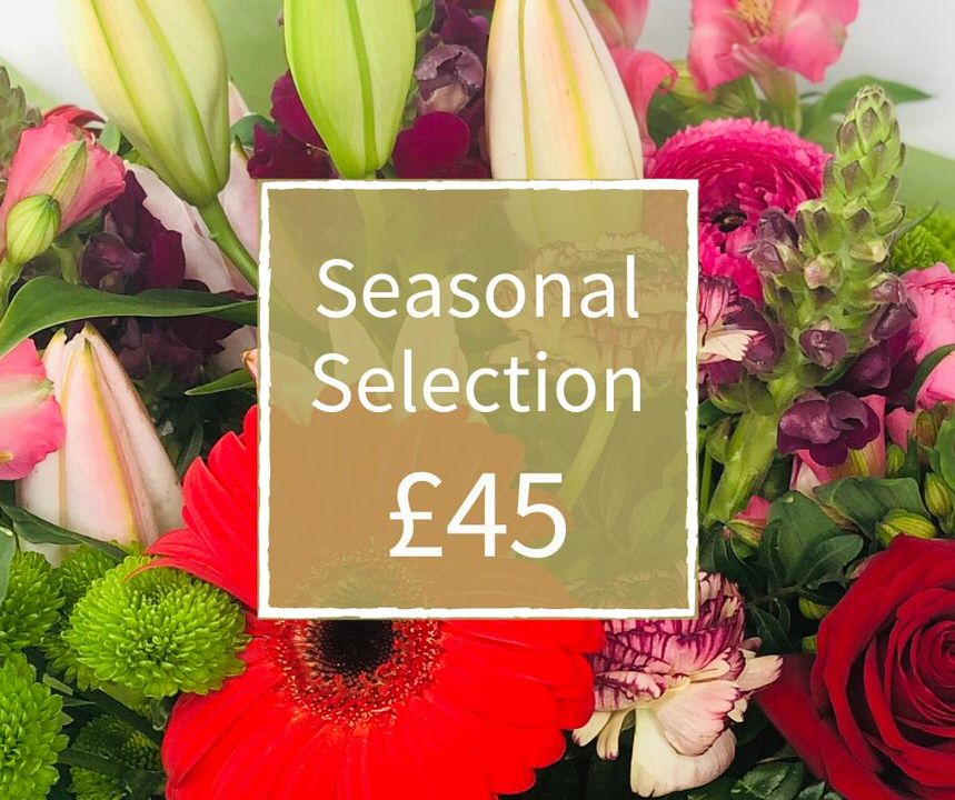 Florist Choice 45 - Seasonal Handtied Bouquet: Booker Flowers and Gifts