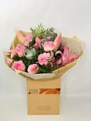 Happy Birthday Pink Pop Hand Tied: Booker Flowers and Gifts