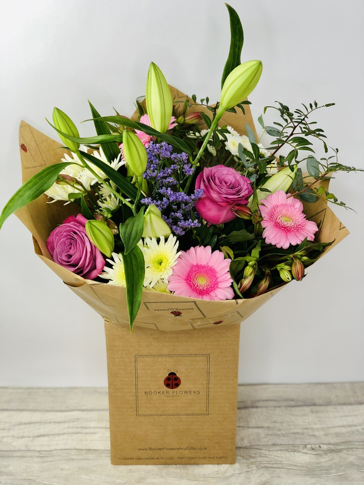Happy Birthday Treasured Time Hand Tied Large: Booker Flowers and Gifts