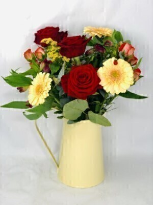 Harvest Cheer Flowers in a Jug: Booker Flowers and Gifts