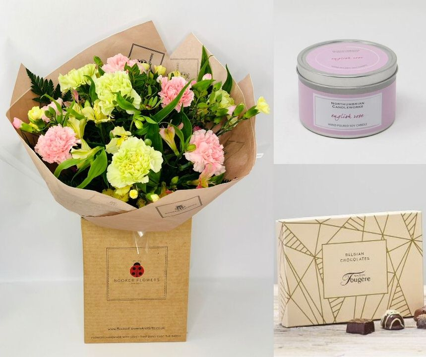 January Birthday Flowers Gift Set: Booker Flowers and Gifts