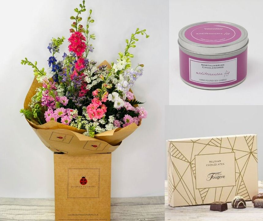 July Birthday Flowers Gift Set: Booker Flowers and Gifts