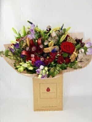 Luxury Scarlet Wonder Christmas Bouquet: Booker Flowers and Gifts