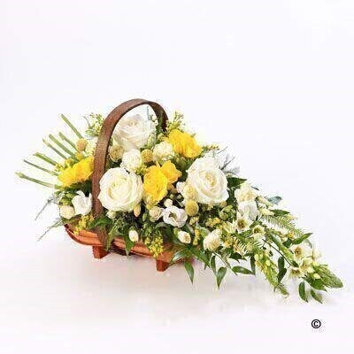 Flowers Arranged into a Basket