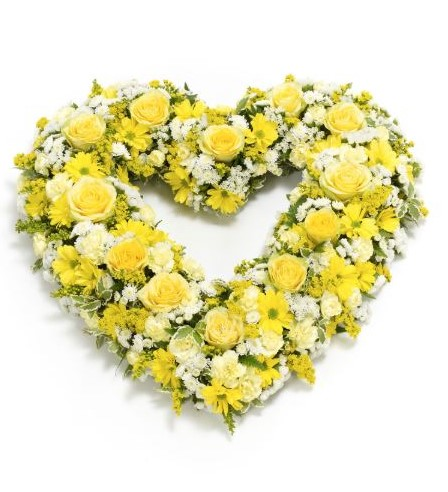 Open Heart - Yellow and White: Booker Flowers and Gifts