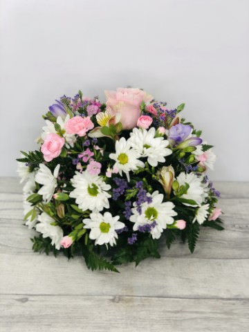 Pink Lilac and White Table Arrangement: Booker Flowers and Gifts