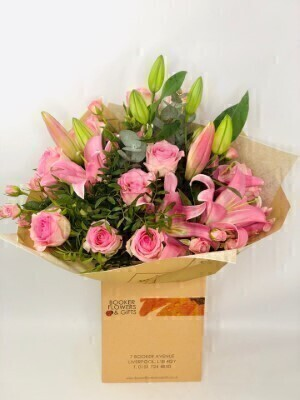 Pink Pop Hand Tied Extra Large: Booker Flowers and Gifts