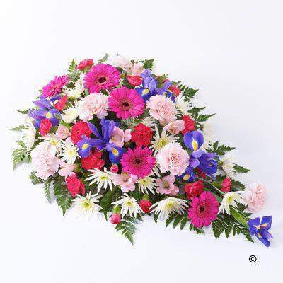 Extra Large Classic Spray in Pink - White and Lilac | Funeral Flowers