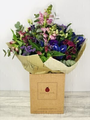 Pretty Purple Bouquet of Flowers: Booker Flowers and Gifts