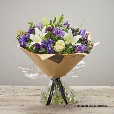 Violet Vibes Handtied Bouquet: Booker Flowers and Gifts