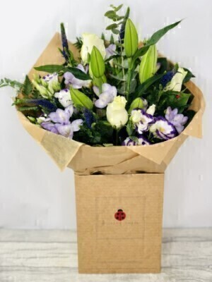 Violet Vibes Handtied Extra Large: Booker Flowers and Gifts