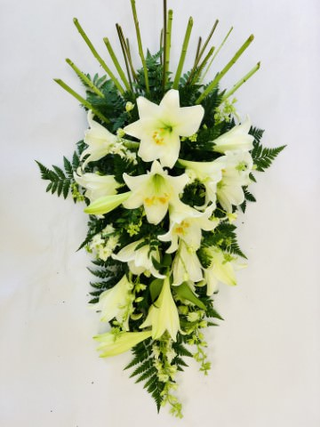 White Lily Spray: Booker Flowers and Gifts