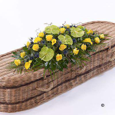 Woodland Casket Spray Large: Booker Flowers and Gifts
