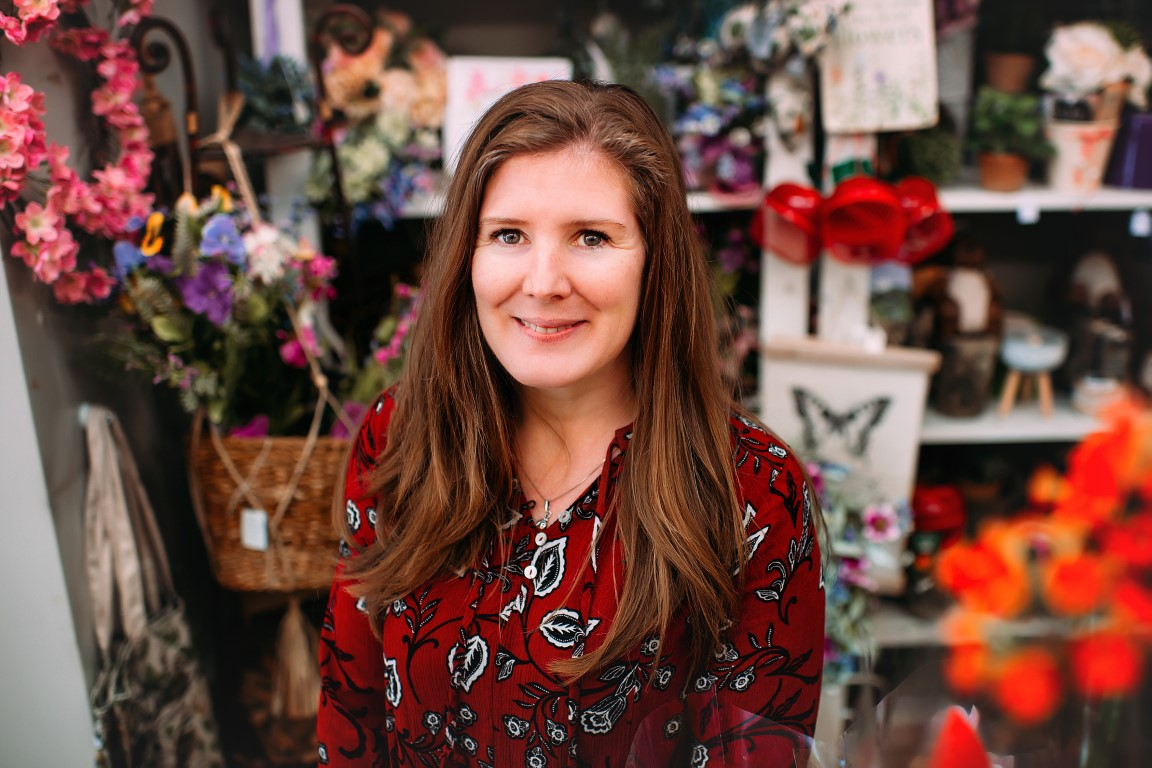 Gemma, Owner and Florist of Booker Flowers and Gifts